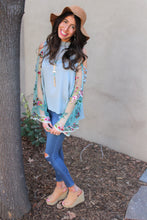 Ella Floral Embroidered Bell Sleeve Top