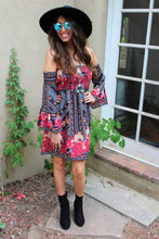 Nada Floral Print Off The Shoulder Dress