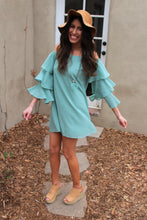 Andrea Ruffled Sleeve Dress