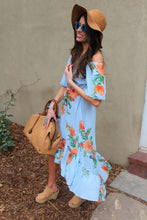 Nya Mixed Print High-Low Maxi Dress