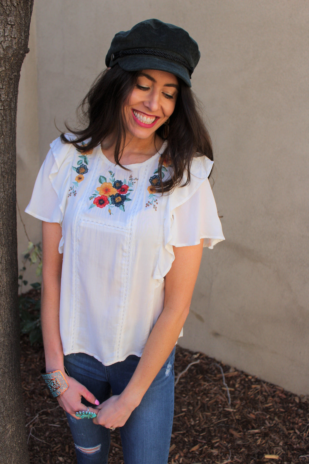 Phoebe Floral Embroidered Top