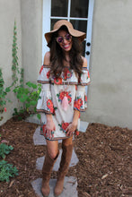 Gia Floral Print Bell Sleeve Mini Dress