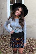 Iris Floral Embroidered Skirt