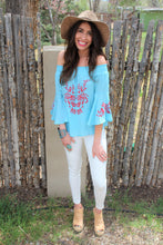 Lani Embroidered Off-The-Shoulder Top