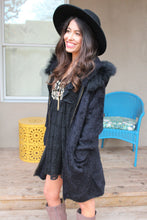 Haddie Faux Fur Hooded Coat
