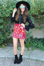 Lola Floral Embroidered Mini Skirt