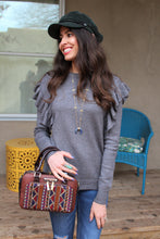 Cheryl Ruffled Pullover Sweater