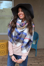 Tracy Plaid Blanket Scarf