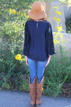 Valentina Contrasting Angel Sleeve Top