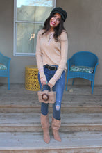 Teresita Thermal Knit Henley Top
