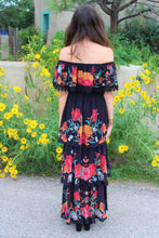 The Betty Floral Print Flounce Maxi Dress