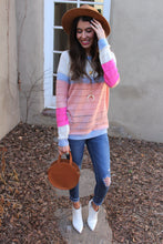 Amy Color Block Knit Top