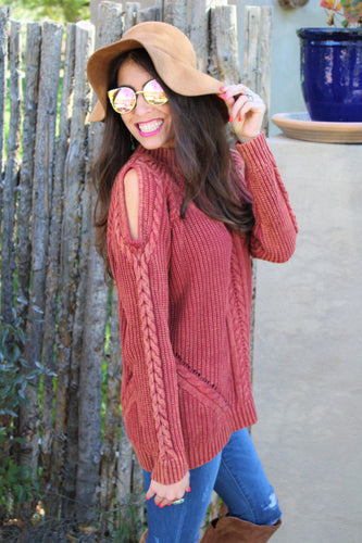 Kira Cutout Sleeves Sweater
