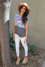 Skylar Mix Print Knot Top