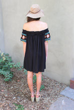 Nancy Pom-Pom Off The Shoulder Dress