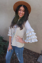 Anastasia Ruffled Sleeve Top