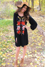 Everly Floral Embroidered Knit Dress