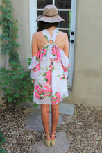 Soliel Floral Print Halter Dress