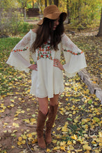 Camila Floral Embroidered Bell Sleeve Dress