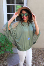 Bethany Floral Lace Dolman Sleeve Top