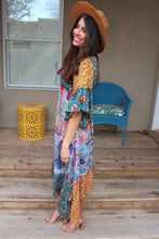 Isabelle Mixed Print Maxi Dress