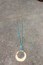 Charli Circle Stone Beaded Necklace Set