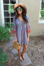 Marie Floral Embroidered Sleeve Dress