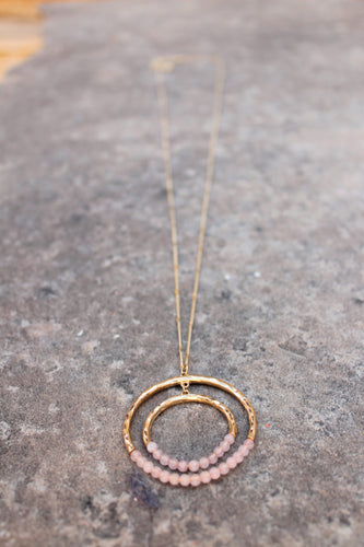 Sol Beaded Circle Pendant Necklace