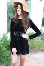 Jasmine Floral Embroidered Velvet Dress