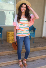 Milla Striped Flutter Sleeve Top