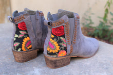 Amalia Floral Embroidered Booties