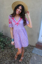 Gina Floral Embroidered Dress