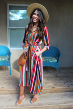 Kristin Striped Belted Dress