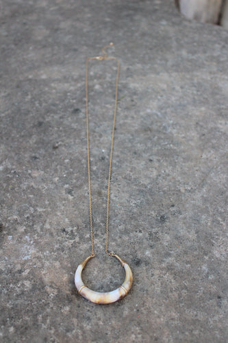 Raquel Horn Pendant Necklace