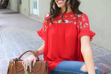 Mara Floral Embroidered Lace Top