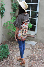 Meagan Contast Print Top