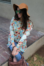 Kendall Floral Print Poncho