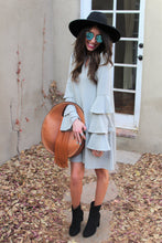 Hallie Ruffle Bell Sleeve Dress