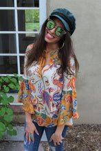 Caressa Floral Print Top