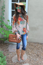 Autumn Mixed Print Top