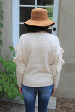 Emmy Ruffled Sleeve Sweater
