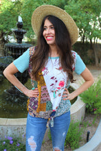 Emmy Mixed Print Top