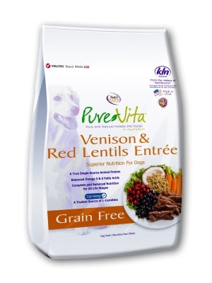 Pure Vita Grain-Free Venison and Red Lentil