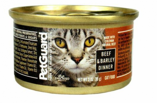 Petguard Coleman Natural Beef and Barley Dinner Canned Cat Food