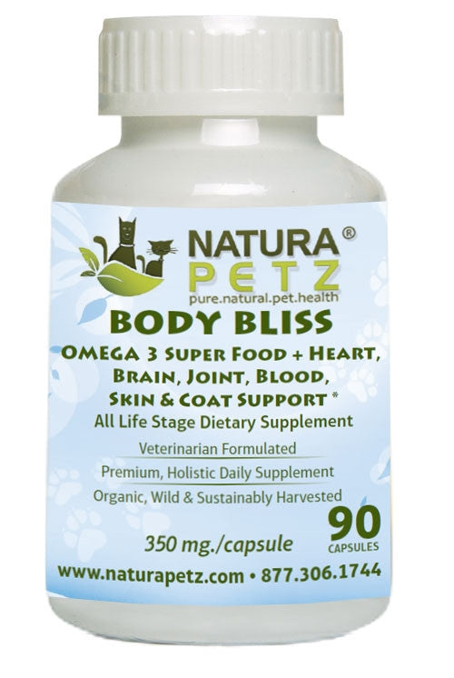 Body Bliss - OMEGA 3 Super Food + Heart, Brain, Joint, Blood, Skin & Coat Support