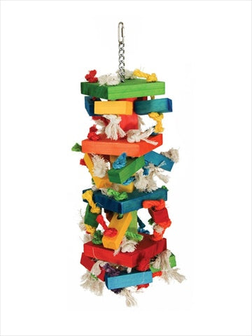 Paradise Extra Large Knots and Blocks 18 x 12 in. Bird Toy