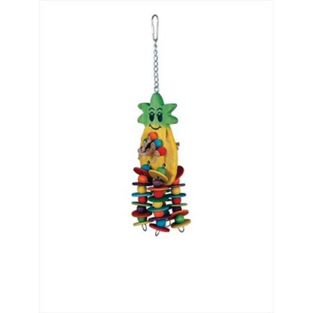Paradise Pineapple 4 x 12 in. Bird Toy