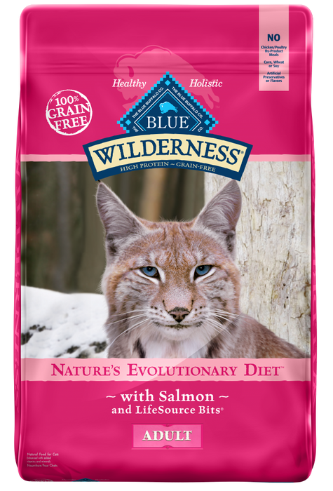 Blue Buffalo Wilderness Grain Free Salmon Recipe Dry Cat Food