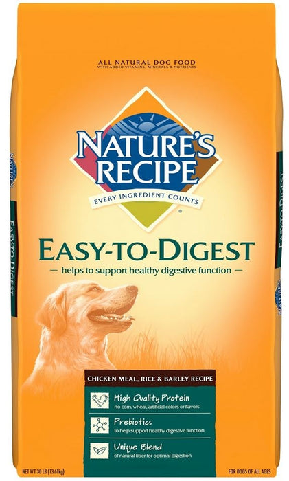 Nature's Recipe Easy To Digest Chicken Meal, Rice and Barley Dry Dog Food