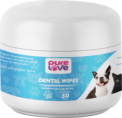 Pure Love Dental Wipes for Dogs and Cats